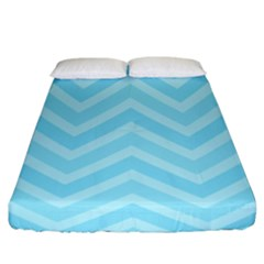 Zigzag  Pattern Fitted Sheet (king Size) by Valentinaart