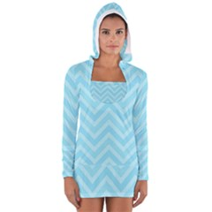 Zigzag  Pattern Women s Long Sleeve Hooded T-shirt by Valentinaart