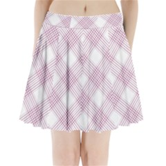 Zigzag Pattern Pleated Mini Skirt