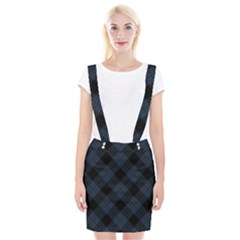 Zigzag Pattern Braces Suspender Skirt