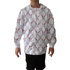 Baseball Bat Scrapbook Sport Hooded Wind Breaker (kids) by Mariart