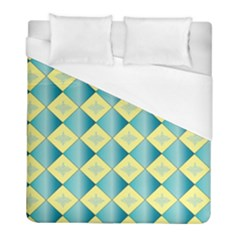 Yellow Blue Diamond Chevron Wave Duvet Cover (full/ Double Size) by Mariart