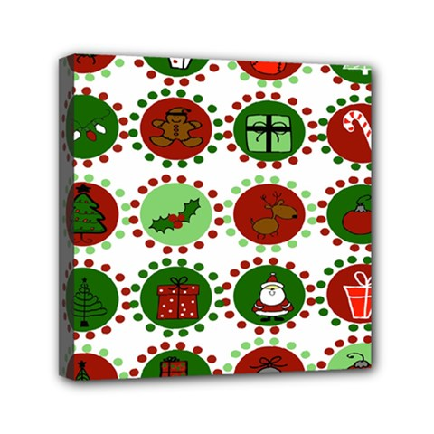 Christmas Mini Canvas 6  X 6  by Mariart