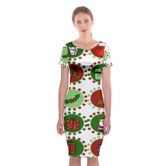 Christmas Classic Short Sleeve Midi Dress by Mariart