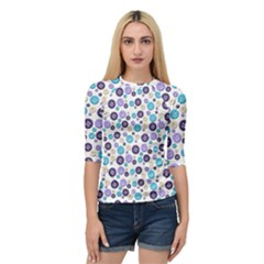 Buttons Chlotes Quarter Sleeve Tee by Mariart