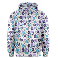 Buttons Chlotes Men s Zipper Hoodie by Mariart