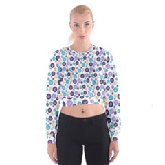 Buttons Chlotes Cropped Sweatshirt by Mariart