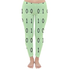 Code Number One Zero Classic Winter Leggings by Mariart