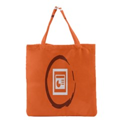 Circles Orange Grocery Tote Bag by Mariart