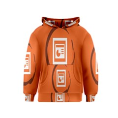 Circles Orange Kids  Pullover Hoodie by Mariart
