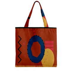 Digital Music Is Described Sound Waves Zipper Grocery Tote Bag by Mariart