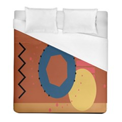 Digital Music Is Described Sound Waves Duvet Cover (full/ Double Size) by Mariart