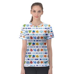 Coral Reef Fish Coral Star Women s Sport Mesh Tee by Mariart