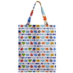 Coral Reef Fish Coral Star Zipper Classic Tote Bag by Mariart
