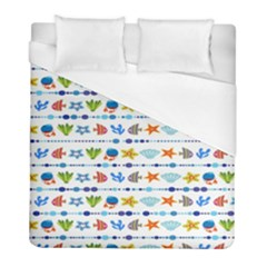 Coral Reef Fish Coral Star Duvet Cover (full/ Double Size) by Mariart