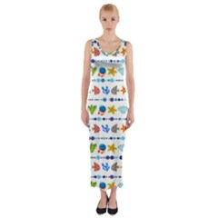 Coral Reef Fish Coral Star Fitted Maxi Dress