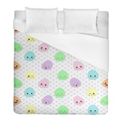 Egg Easter Smile Face Cute Babby Kids Dot Polka Rainbow Duvet Cover (full/ Double Size) by Mariart