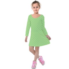 Dots Kids  Long Sleeve Velvet Dress by Valentinaart