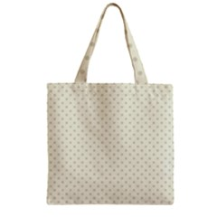 Dots Zipper Grocery Tote Bag by Valentinaart