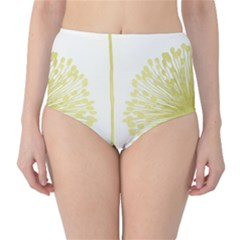 Flower Floral Yellow High-waist Bikini Bottoms by Mariart