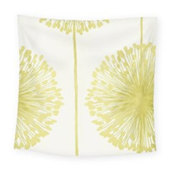 Flower Floral Yellow Square Tapestry (large) by Mariart