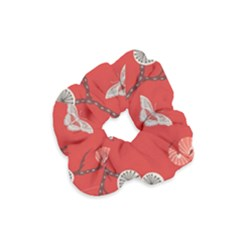 Dandelions Red Butterfly Flower Floral Velvet Scrunchie by Mariart