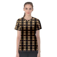 Geometric Shapes Plaid Line Women s Sport Mesh Tee by Mariart
