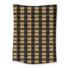 Geometric Shapes Plaid Line Medium Tapestry by Mariart
