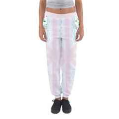 Frame Flower Floral Sunflower Line Women s Jogger Sweatpants by Mariart