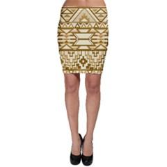 Geometric Seamless Aztec Gold Bodycon Skirt by Mariart
