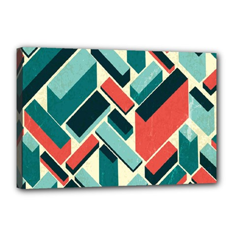German Synth Stock Music Plaid Canvas 18  X 12  by Mariart