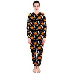Ghost Pumkin Craft Halloween Hearts Onepiece Jumpsuit (ladies)