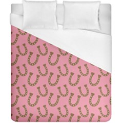 Horse Shoes Iron Pink Brown Duvet Cover (california King Size) by Mariart