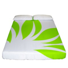 Leaf Green White Fitted Sheet (california King Size) by Mariart