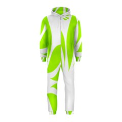 Leaf Green White Hooded Jumpsuit (kids)