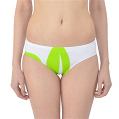 Leaf Green White Hipster Bikini Bottoms by Mariart