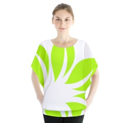 Leaf Green White Blouse by Mariart