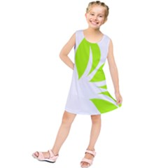 Leaf Green White Kids  Tunic Dress by Mariart