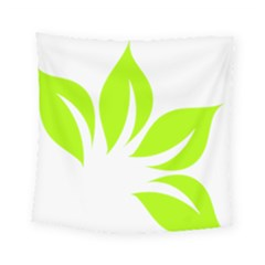 Leaf Green White Square Tapestry (small) by Mariart