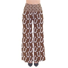 Horse Shoes Iron White Brown Pants by Mariart