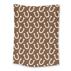 Horse Shoes Iron White Brown Medium Tapestry by Mariart