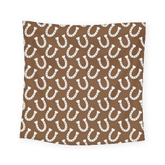 Horse Shoes Iron White Brown Square Tapestry (small) by Mariart