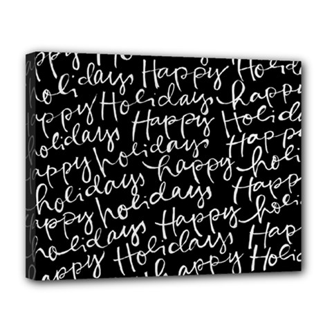 Happy Holidays Canvas 14  X 11  by Mariart