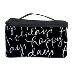 Happy Holidays Cosmetic Storage Case by Mariart