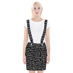 Happy Holidays Braces Suspender Skirt