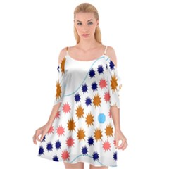 Island Top View Good Plaid Spot Star Cutout Spaghetti Strap Chiffon Dress by Mariart