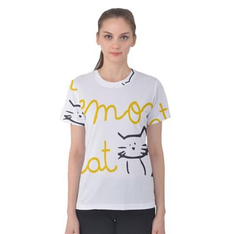 Lemon Animals Cat Orange Women s Cotton Tee by Mariart