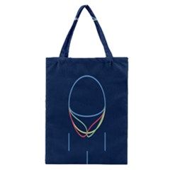 Line Light Blue Green Red Yellow Classic Tote Bag by Mariart