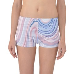 Marble Abstract Texture With Soft Pastels Colors Blue Pink Grey Boyleg Bikini Bottoms by Mariart