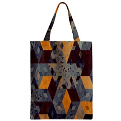 Apophysis Isometric Tessellation Orange Cube Fractal Triangle Classic Tote Bag by Mariart